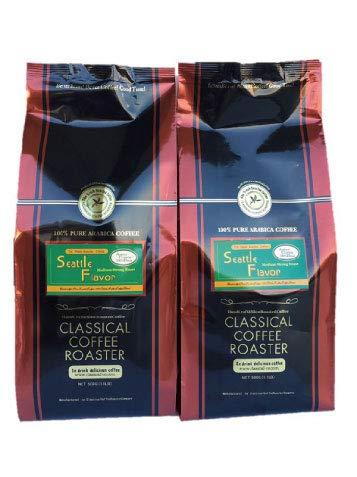 コーヒー豆 1kg セット シアトル フレーバー ブレンド コーヒー 1.1lb ( 500g ) 2個セット 【 細挽 】 クラシカルコーヒーロースター