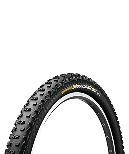 Continental 100396 MTB Mountain King II 2.4 ProTection - Cubierta plegable para bicicletas (26 x 2,4), color negro