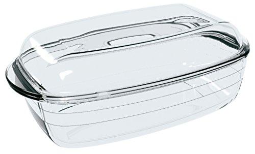 Ôcuisine 4937388 - Cacerola rectangular 3 l, 33 x 10 x 20 cm, color transparente