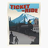 Repeat Carriage Conductor Road Ticket Steam Ride Eurogame Train Meeple Sleep Eat Laying Vintage...