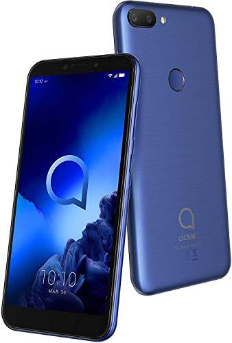 "Alcatel 1V - Teléfono móvil de 5"" (Octacore, RAM de 1 GB, memoria interna de 16 GB, ampliable micro SD, cámara 8 MP) color azul"