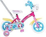Peppa Pig - Bicicleta para niña con caña de Empuje, Color Fucsia