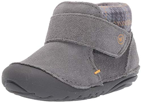 Stride Rite Boys' SM Oakley Ankle Boot, Grey, 3 M US Infant