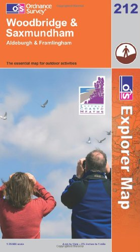 OS Explorer map 212 : Woodbridge & Saxmundham