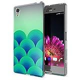 NALIA Handyhülle kompatibel mit Sony Xperia X, Slim Silikon Motiv Case Smart-Phone Crystal Schutzhülle Dünn Durchsichtig, Etui Handy-Tasche Transparent Back-Cover Bumper, Designs:Green Forest