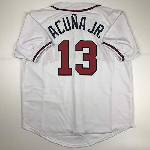 Unsigned Ronald Acuna Jr. Atlanta White Custom Stitched Baseball Jersey Size Men's XL New No Brands/Logos