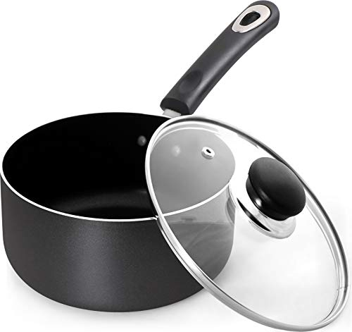 Nonstick Saucepan with Glass Lid