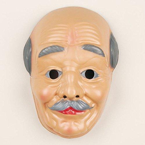 NET TOYS Großvatter Gesichtsmaske Opa Maske Alter Mann Maske Opamaske Grandpa Karnevalsmaske Karnevalsmaske Faschingsmaske