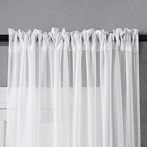 Cortinas de tul para ventana de sala de estar, dormitorio, cortinas de tul modernas para cortinas de cocina
