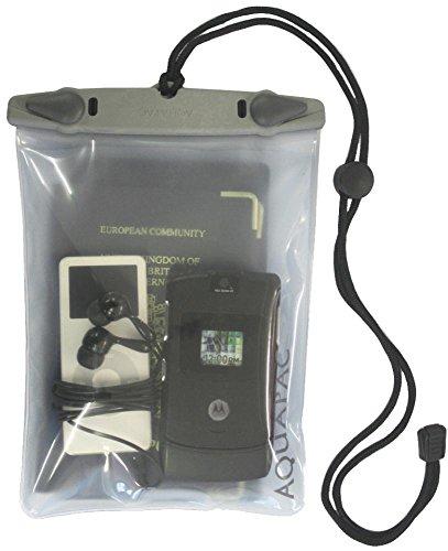 Aquapac Bolsa Estanca Mini Whanganui, 21cm, Gris (Transparente/Gris)