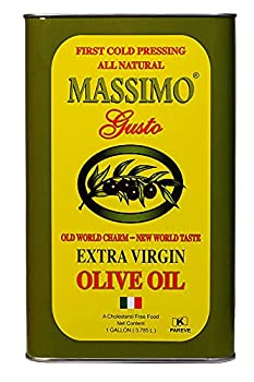 Massimo Gusto - Olive Oil - Italian Extra Virgin - 1 Gallon Tin Can