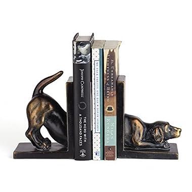Danya B. DS782 Unique Decorative Animal Shelf Décor - Labrador Dog Bookend Set