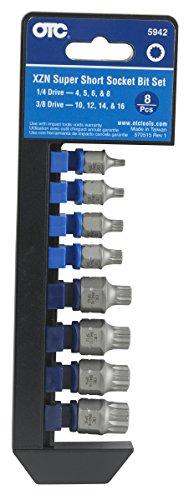 OTC 5942 8-Piece XZN 'Super Short' Socket Bit Set