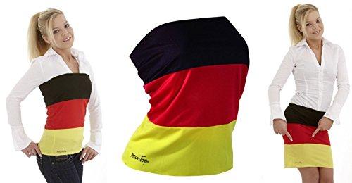 Gr. L TOP & ROCK Deutschland Farben mit 10% Elastan Damen Trikot Fussball Olympia Fanartikel Fan WM Shirt Fahne KBV