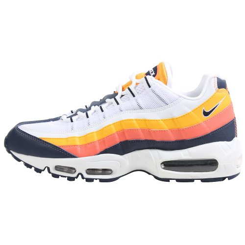 Nike Air Max 95 White/Navy/Gold Mens Running Shoes 609048-143