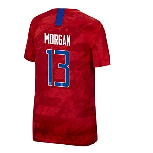 SUNOLG Morgan 13 Alex Away Soccer Shirt for Mens Red
