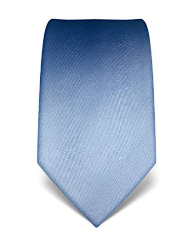 Vincenzo Boretti Herren Krawatte reine Seide uni einfarbig edel Männer-Design zum Hemd mit Anzug für Business Hochzeit 8 cm schmal/breit hellblau