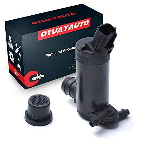 Windshield Washer Pump Replacement for Ford, Lincoln, Mercury - OTUAYAUTO Factory OE Style with Grommet 6F9Z-17664-A