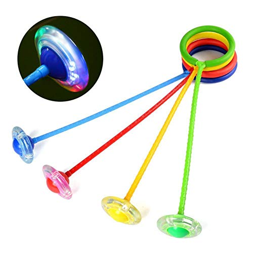 Gaeruite bambini lampeggiante Jumping anello, caviglia Skip Jump Ropes sport Swing Ball for Kids Play, colore casuale