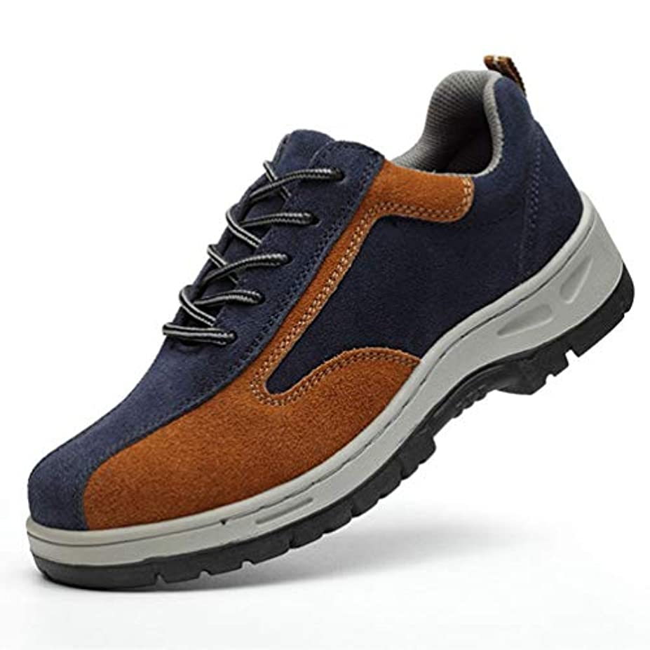 ランクアクセス良いメンズ 安全シューズ 作業靴 保護靴 ワークシューズ アンチショック クッション性 つま先保護プレート 滑り止め加工 耐久性抜群 歩きやすい 通気性 コンフォート 四季通用 防刺 抗菌 防臭 紐タイプ 通勤