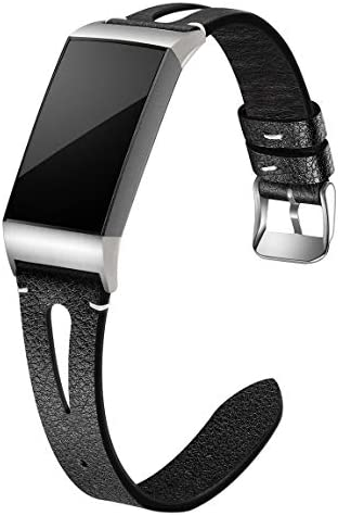 Maledan Compatible for Fitbit Charge 3 and Fitbit Charge 4 Bands Women Men Slim Genuine Leather product image