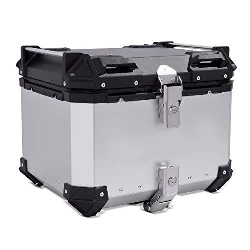 Baul Aluminio para Yamaha Tricity/XT 600 E Top Case Bagtecs XB45 Plata