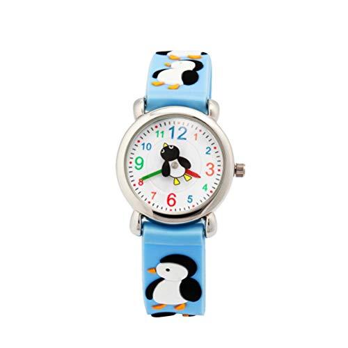 ibasenice Kinderuhren -Cartoon Pinguin Uhr Silikon Quarzuhr Kreative Armbanduhr Mode Beiläufige Uhr für Kinder Kinder