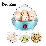 Womdee Cocedor de Huevos Eléctrico, Egg Cooker, Hervidor de Huevos Eléctrico con Capacidad de 1-7 Huevos, Huevos Escalfados para Huevos Suaves, Medianos, Duros, 350W, Apagado Automático