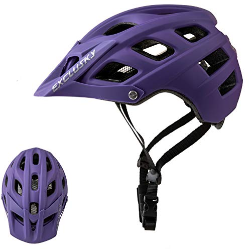 Exclusky Mountain Bike Helmet MTB Bicycle Cycling Helmets for Adult Women and Men
