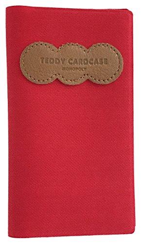 Monopoly Teddy Tarjetero, 13 cm, Rojo