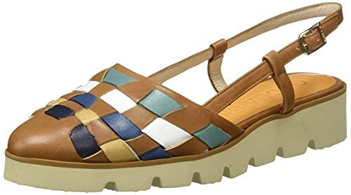 Gadea BAR1434-2, Zapato semiplano Mujer, Multi Camel, 41 EU
