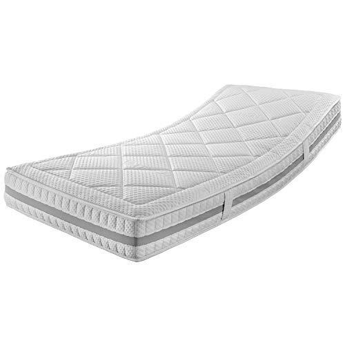 Ravensberger Matratzen® ERGOspring | 7-Zonen-Deluxe-Tonnen-Taschenfederkernmatratze 1000 H3 (ab 95kg) | Made IN Germany - 10 Jahre Garantie | Bezug Tencel-Doppeltuch 100x200 cm