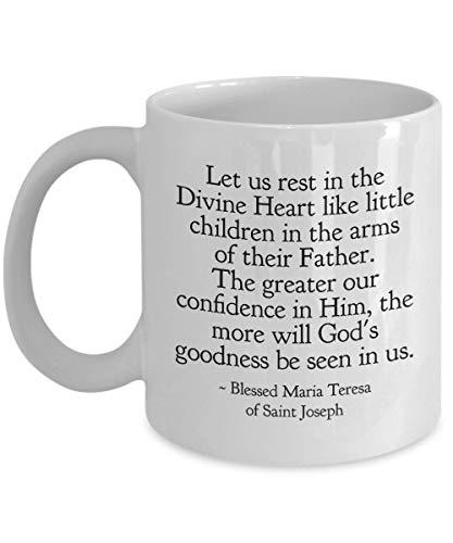 N\A ¡Regalo para católicos! Taza de café de la Cita del Santo ¡Taza de té! Descansemos en el Divino Corazón 11 o