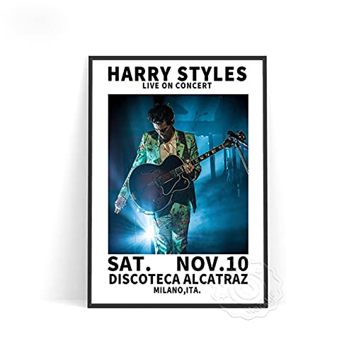 lubenwei Music Star Harry Styles Poster Vocal Concert Singer Posters World Tour Live Picture Wall Stickers Bedroom Wall Decor (AU-1057) 50x70cm No frame