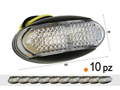 A2ZWORLD CARALL TF2406A 10 stuks LED zijlampen 24 V 12 V oranje voor licht Cortesia Targa koepel afzuigkap aanhanger caravan Furgone