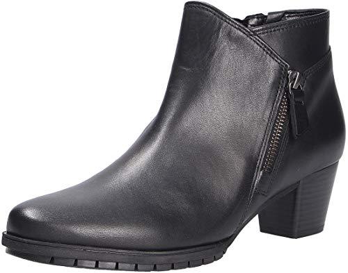 Gabor Damen elegante Stiefeletten, Frauen Ankle Boots,Mehrweite, stiefel halbstiefel bootie knöchelhoch,schwarz (Micro),40.5 EU / 7 UK