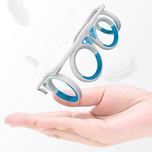 CHUSHENG Los anteojos Anti-mareos, Las Gafas Plegables para Adultos de los niños no están deformados, Son adecuados para Todos los mareos, Barcos y Aviones