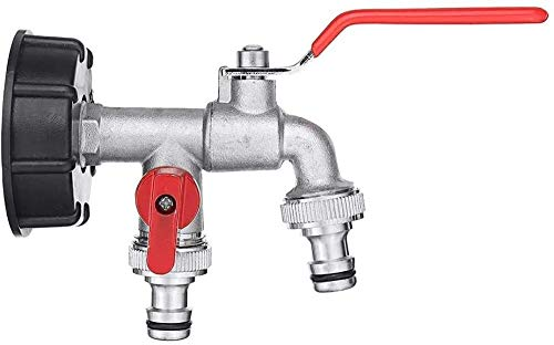BAODANXWZ Co.,Ltd Grifo de Repuesto Válvula de latón Adaptador de Tanque de Agua Principal Doble Grifo Conector de Agua de Salida de jardín 1/2 Pulgada