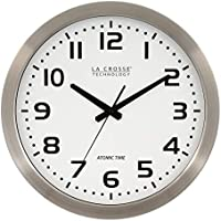 La Crosse Technology 16 Inch Stainless Steel Atomic Clock