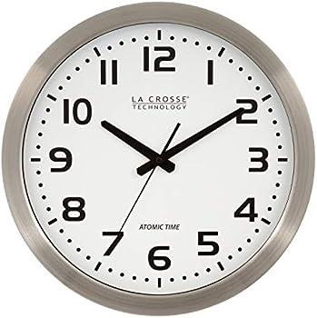 La Crosse Technology 16 Inch Stainless Steel Atomic Clock