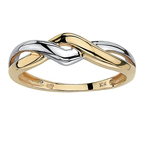 10k Two Tone Ring - 6