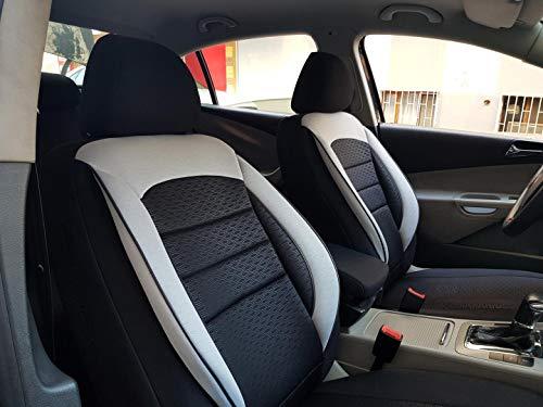 Sitzbezüge K-Maniac für Opel Corsa D | Universal schwarz-Weiss | Autositzbezüge Set Komplett | Autozubehör Innenraum | NO2626427 | Kfz Tuning | Sitzbezug | Sitzschoner