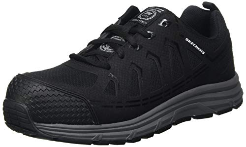 Skechers Malad, Zapato Industrial Hombre, Black, 44 EU