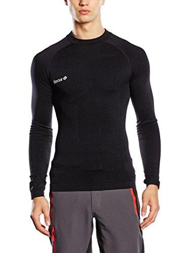 IZAS Saverio T-Shirt Thermique pour Homme, Couleur Fuchsia/Noir, Taille XL