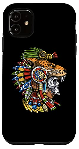 iPhone 11 Aztec Skull Jaguar Warrior Mask Ancient Mayan Mythology Case