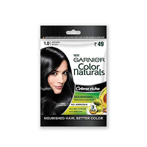 Garnier Color Naturals Crème Riche Sachet, Shade 1, Natural Black, 60