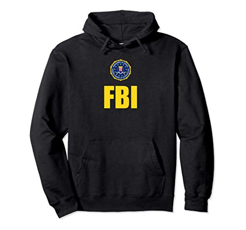 FBI Shirt, Logo de sceau de poitrine d'agent fédéral Sweat à Capuche