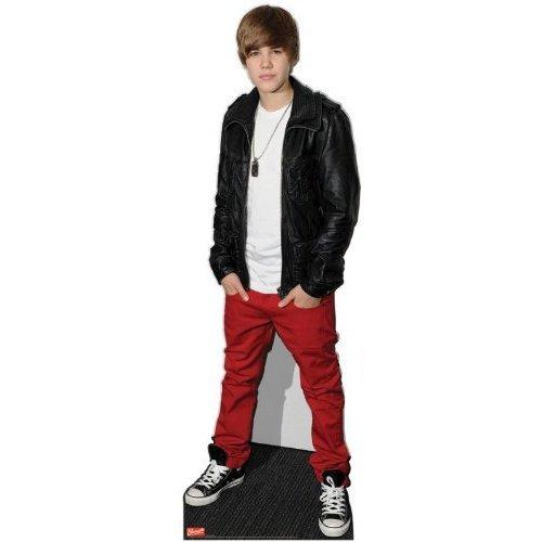 Justin Bieber Lederjacke 169 cm Lebensgröße Pappaufsteller
