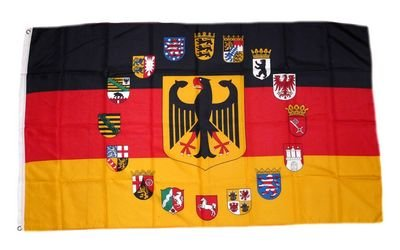 Flagge Fahne Deutschland 16 Bundesländer 90 x 150 cm FLAGGENMAE®