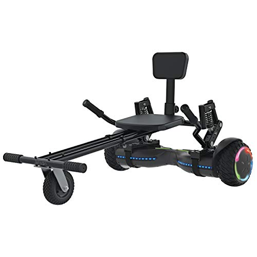 Jetson Extreme Terrain Z12 Hoverboard and JetKart Combo, Max Speed Up to 10 MPH, Travel Up to 12 Miles, 250 LBS Weight Limit, LED Lights Beat to The Music